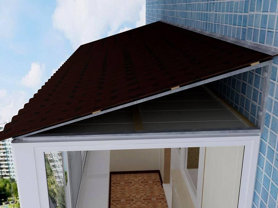 Как сделать крышу на балконе последнего этажа для надежной защиты от снега и дождя