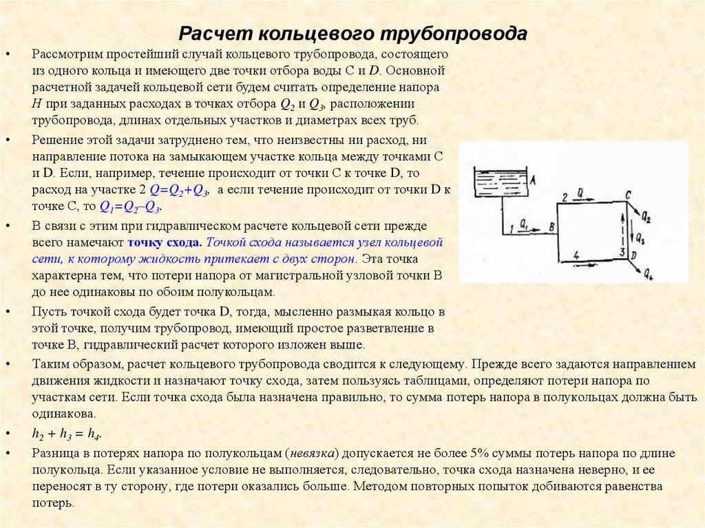 Гидравлический расчет водопровода: простые способы