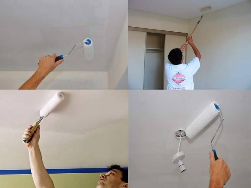 Как правильно покрасить гипсокартонный потолок
