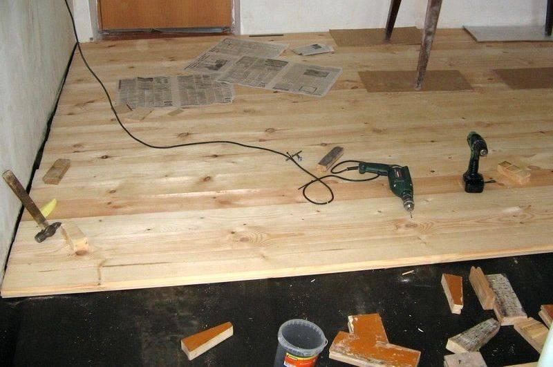 Пол из шпунтованной доски: особенности выбора древесины и инструкция монтажа
