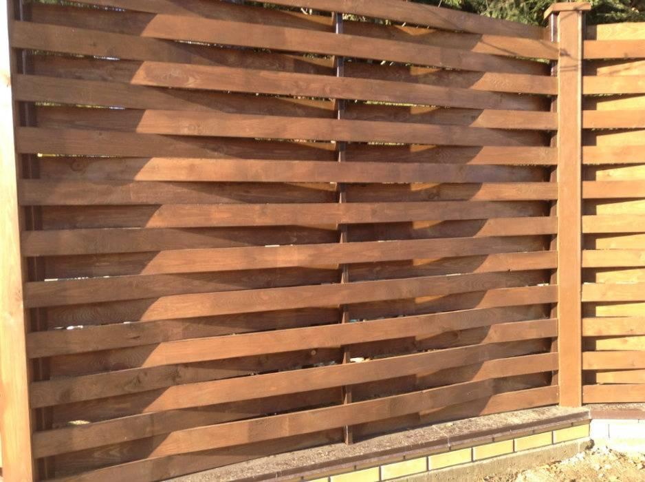 Забор из деревянного штакетника своими руками: планы и чертежи с фото