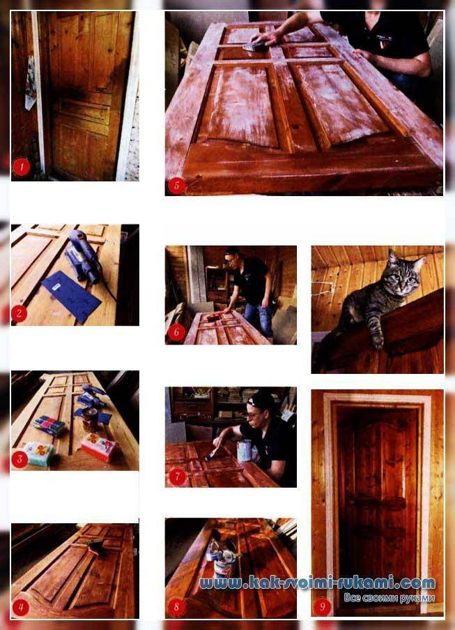 Красим деревянную дверь своими руками: секреты специалистов