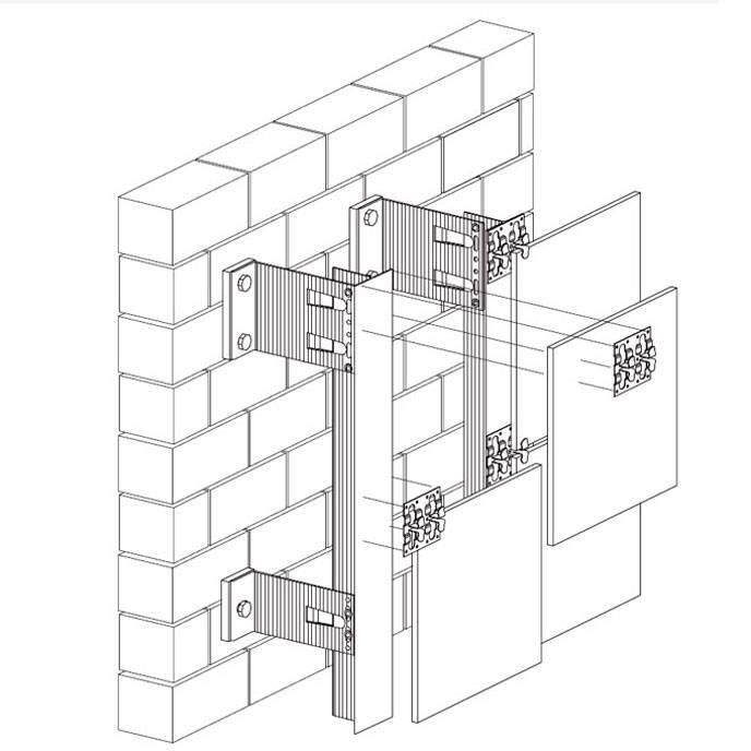 Подсистема вентилируемого фасада – разбираем все виды по составу