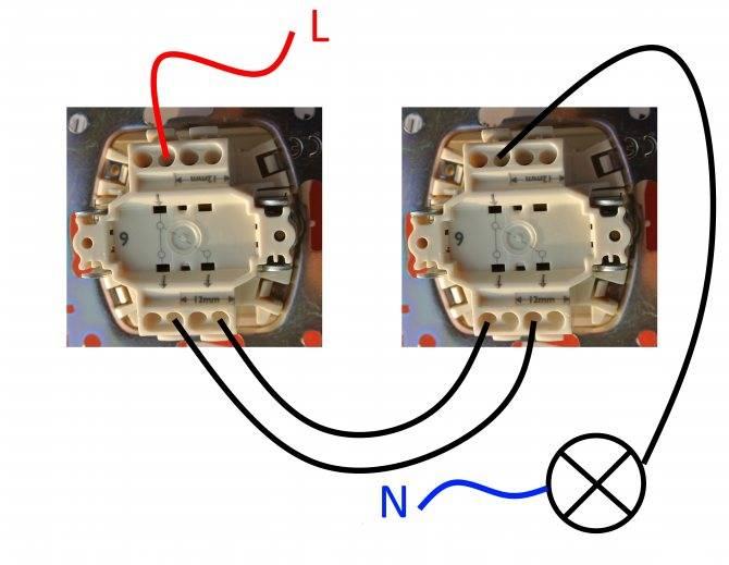 Схема подключения проходного выключателя — пошаговая инструкция!