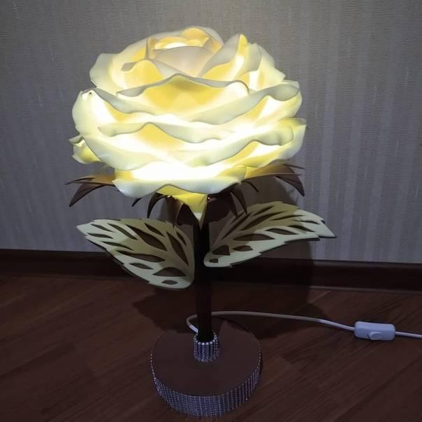 Светильник роза из изолона своими руками: мастер класс с фото - строительство и ремонт