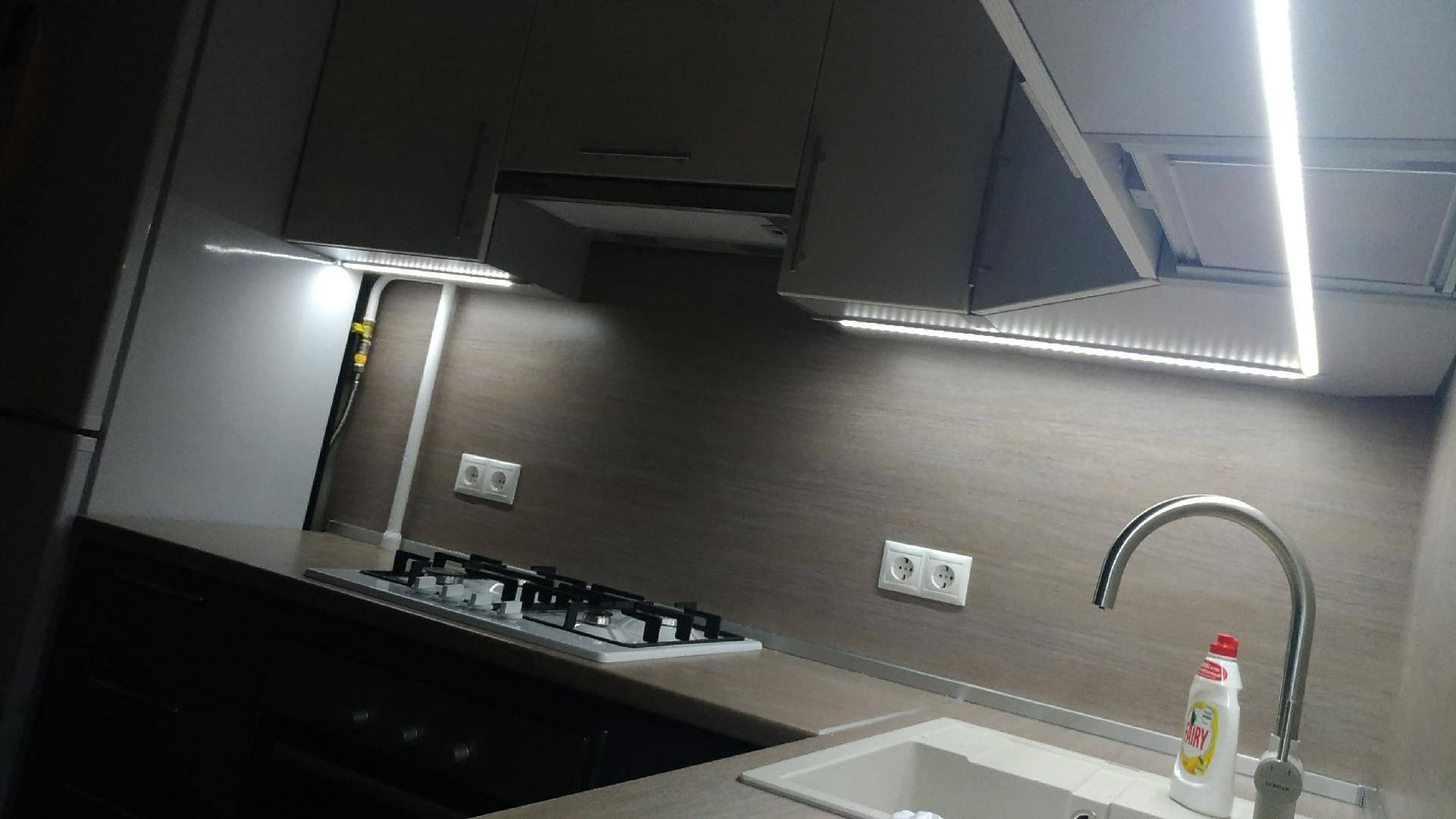 Подсветка рабочей зоны на кухне: принципы правильной организации освещения (86 фото + видео)