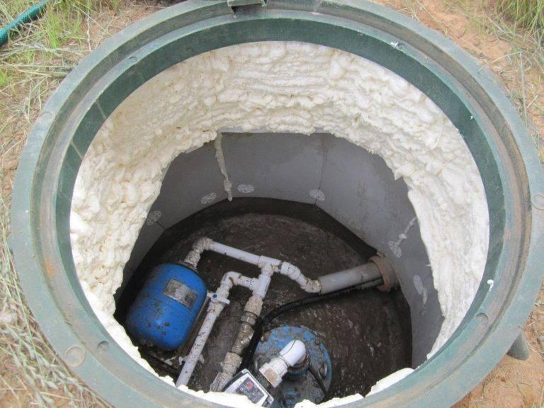 Утепление септика из бетонных колец