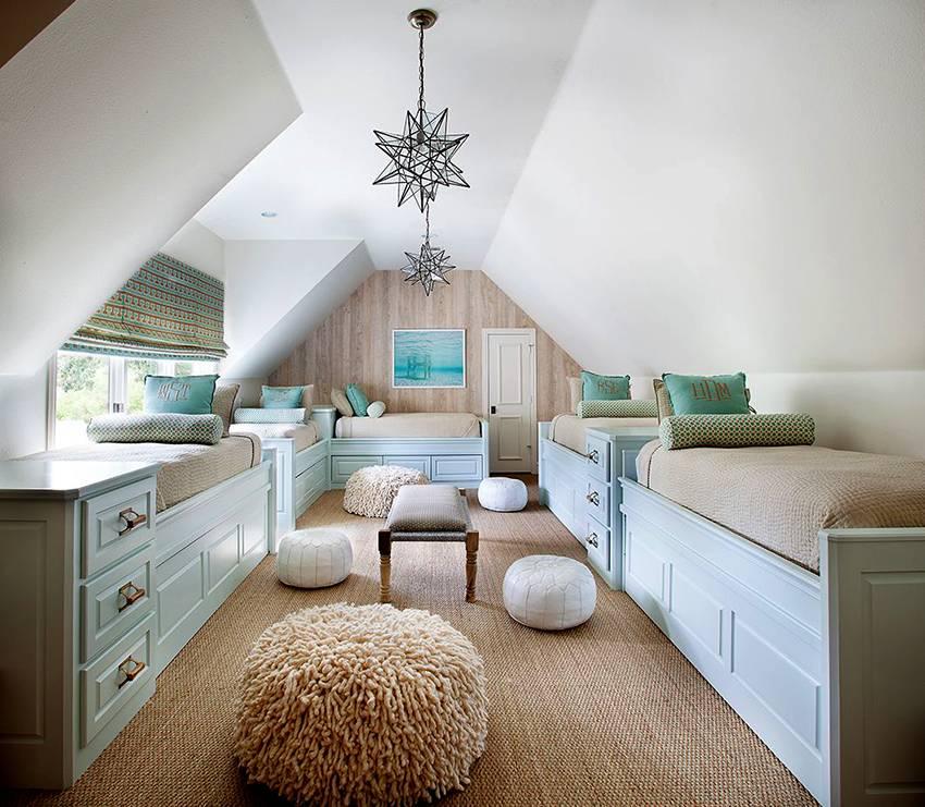 Дизайн и идеи для отделки спальни на мансарде, примеры готовых решений оформления