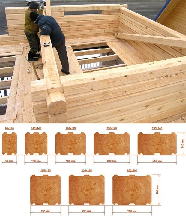 Правильный деревянный дом из строительного бруса