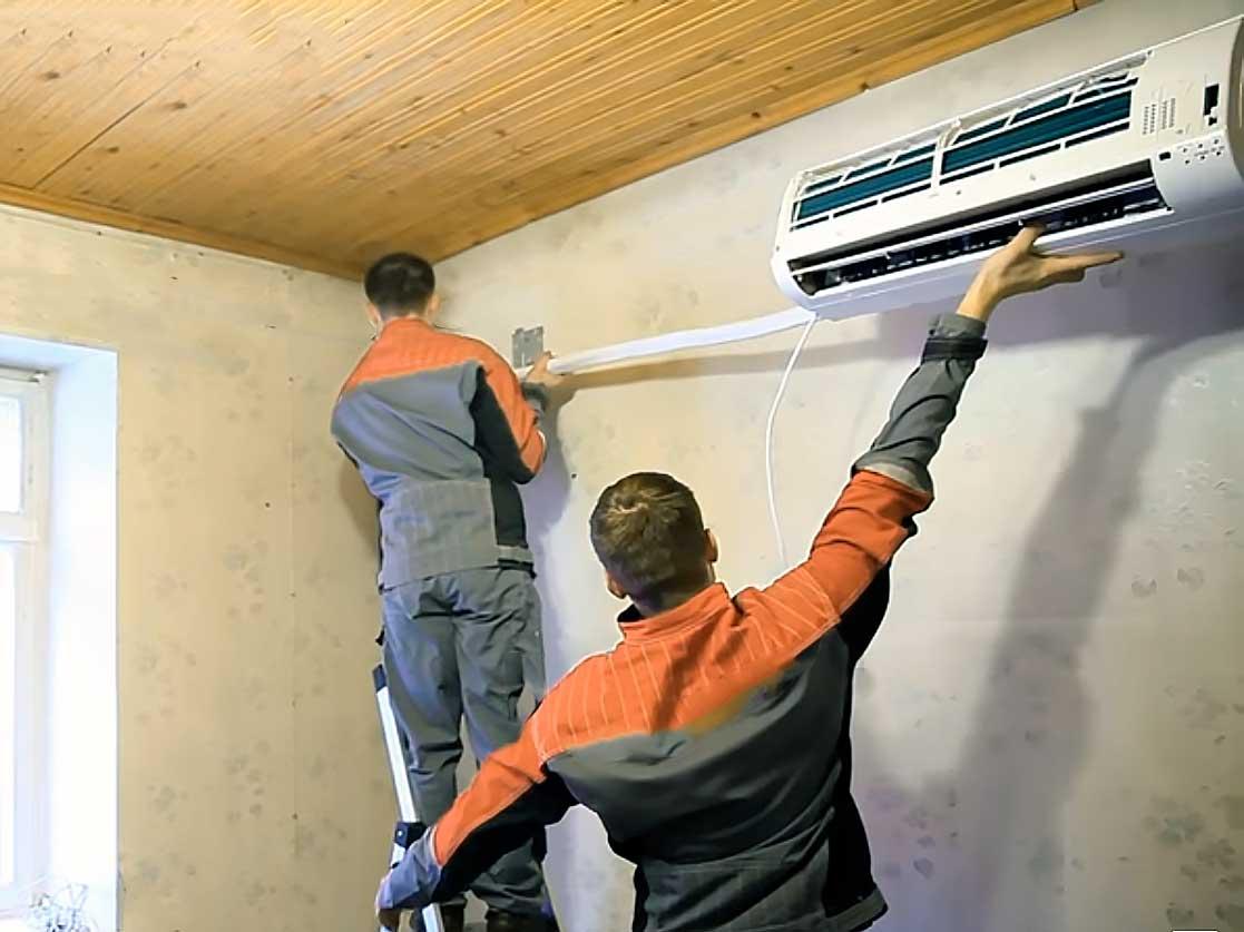 Как снять кондиционер со стены во время ремонта своими руками: пошаговая инструкция