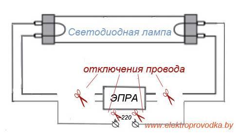 Замена люминесцентных ламп на светодиодные