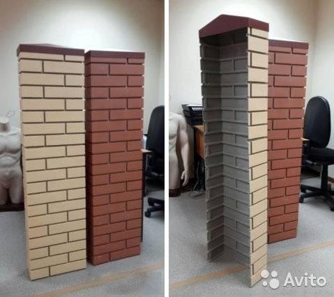 Декоративные бетонные столбы для забора и ограждений
