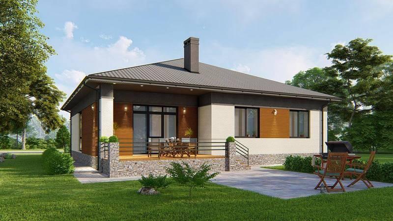 Хит проекты одноэтажных домов с террасой и верандой