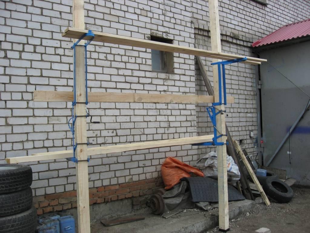 Как сделать строительные леса из профильной трубы своими руками: пошаговая инструкция