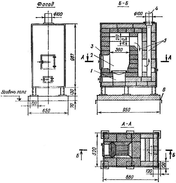 Двухколпаковая отопительно-варочная печь видео-инструкция по монтажу своими руками, цена, фото