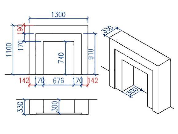 Создание и отделка портала для электрокамина своими руками