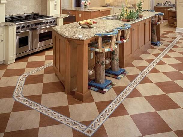 Напольное покрытие для кухни: что лучше постелить на полу в кухне, виды покрытий