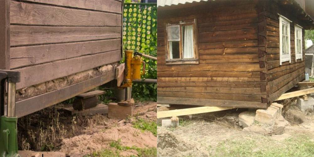 Поднятие деревянного дома - блог о строительстве