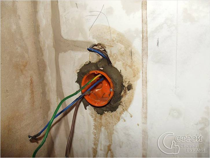 Профиль металлокаркаса мешает установить светильник или розетку в гипсокартоне?