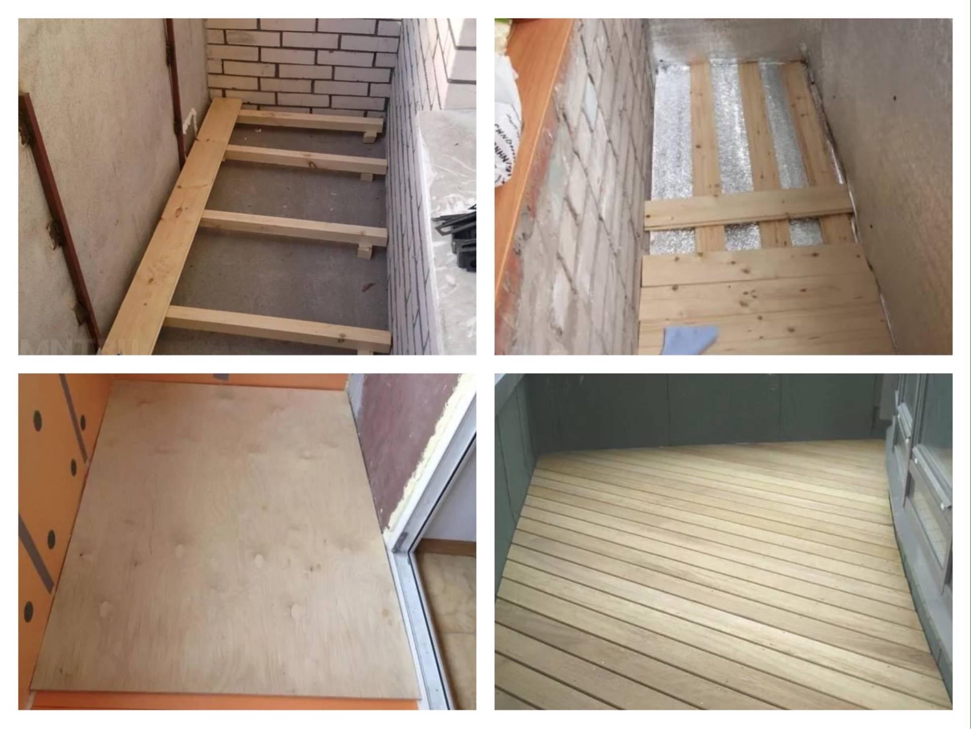 Пошаговая инструкция по изготовлению деревянного пола на балконе