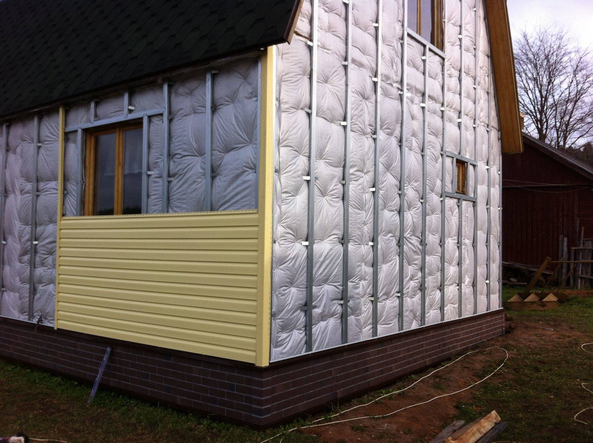 Утепление стен из пеноблоков снаружи под сайдинг - клуб мастеров