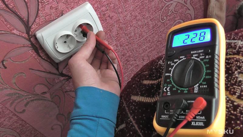 Как измерить ток в розетке мультиметром