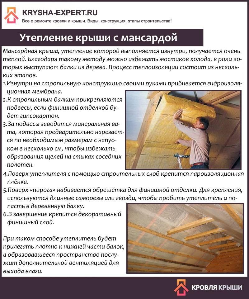 Толщина утеплителя для крыши - кровля и крыша