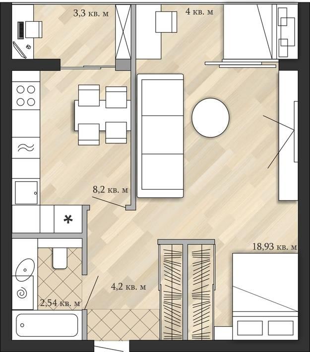Варианты перепланировки однокомнатной квартиры: лучшие идеи расширения пространства и функционального использования