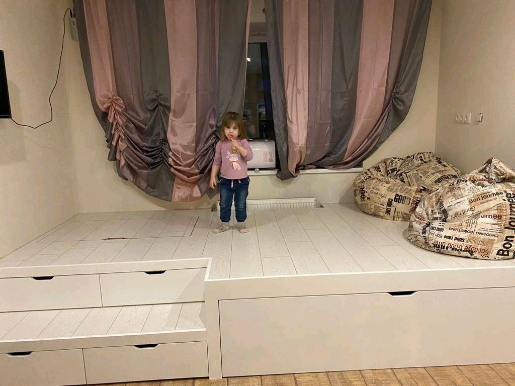 Кровать-подиум своими руками: чертежи и замеры, пошаговая сборка