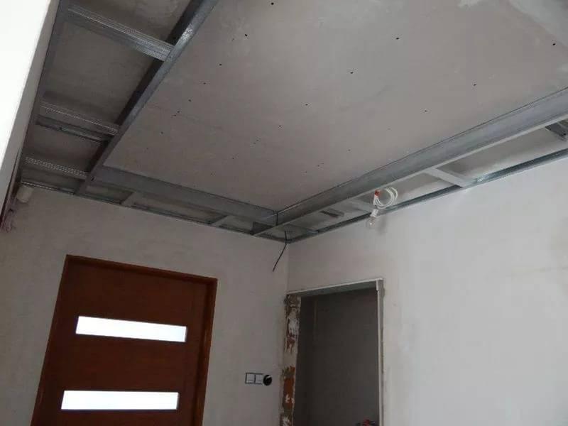 Как своими руками сделать потолок из гипсокартона: разметка, сборка, отделка