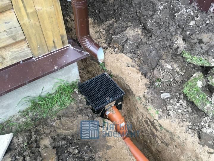 Обустройство ливневой канализации в частном доме