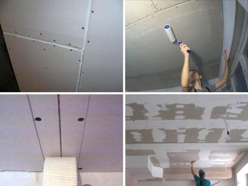 Покраска потолков из гипсокартона - технология