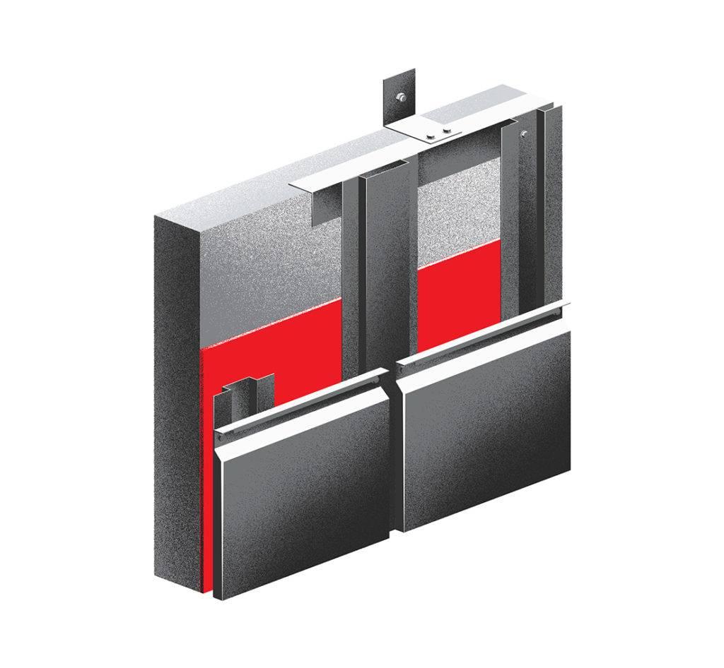 Подсистема вентилируемого фасада: выбор крепежного профиля и кронштейнов