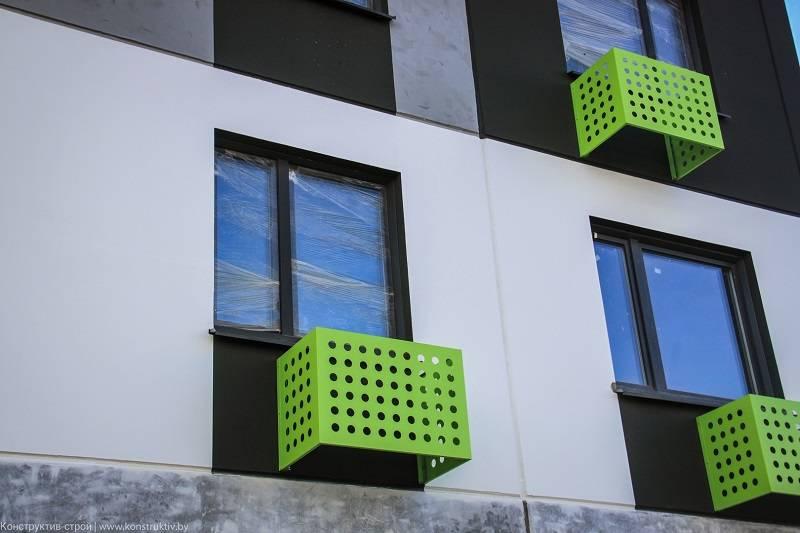 Короба для кондиционеров на фасаде