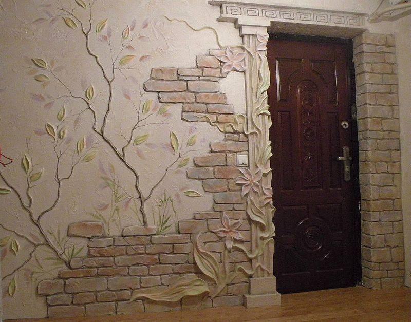 Искусственный декоративный камень для внутренней отделки стен в квартире