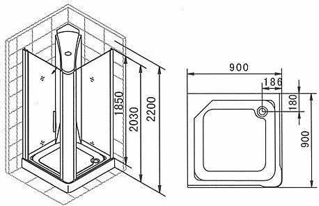 Квадратные душевые кабины: модели 80х80, 90х90, 100х100 см и других размеров, кабинки с низким поддоном, фронтальным входом, крышей и иные