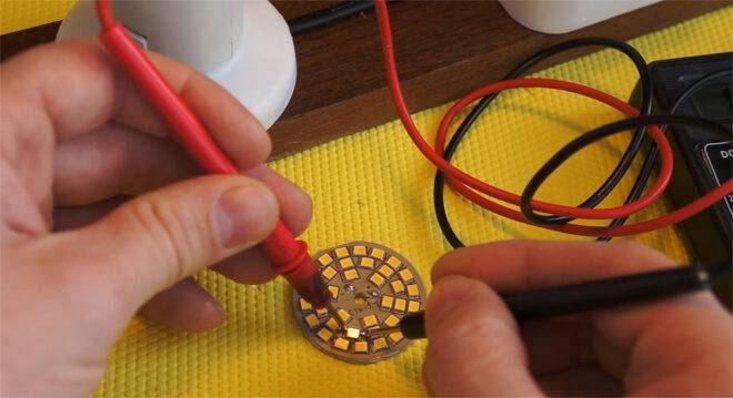 Как проверить светодиод мультиметром: своими руками на работоспособность