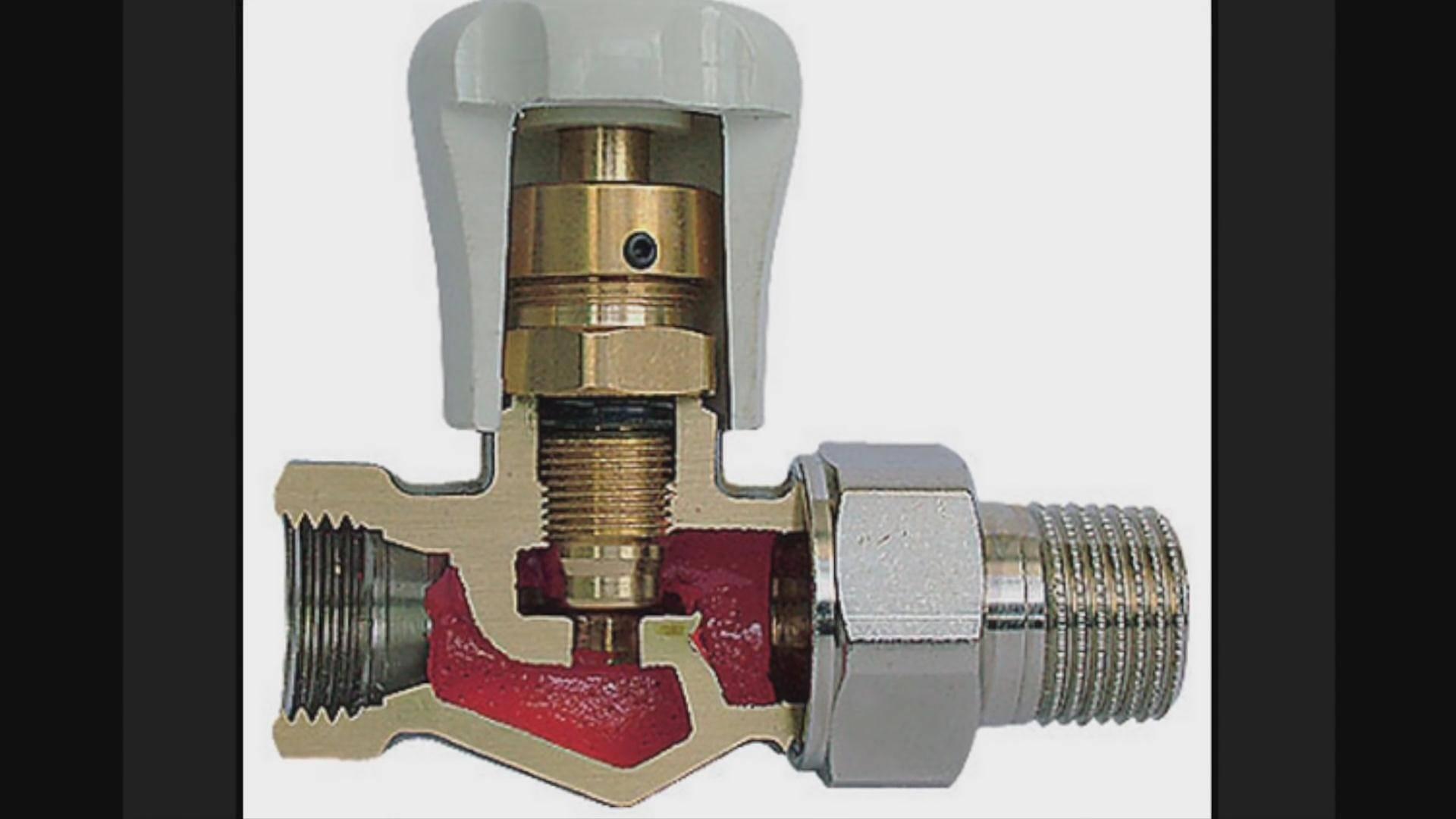 Регулировочный кран на радиатор отопления