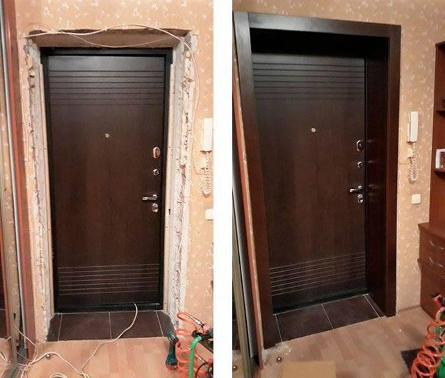 Как сделать откосы входной двери своими руками