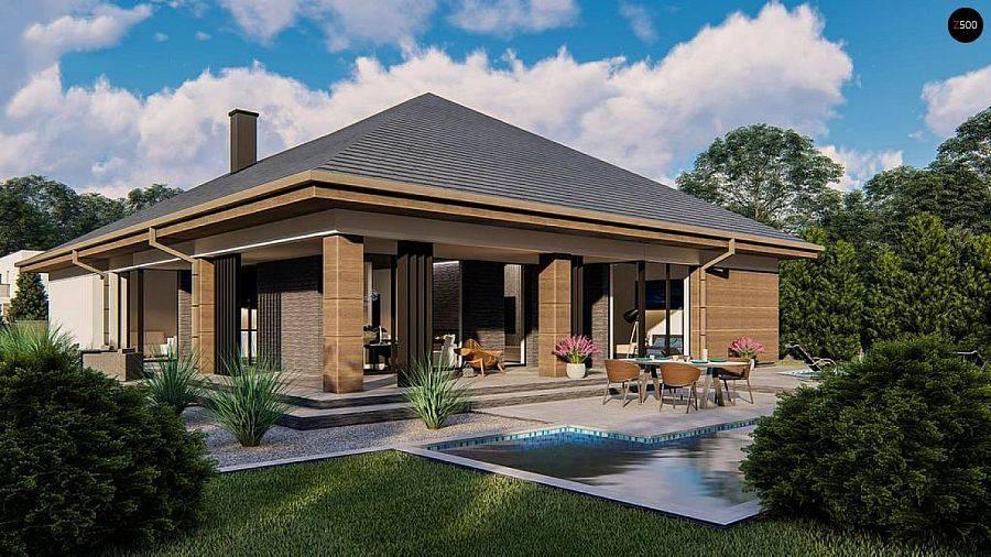 Особенности проектирования одноэтажных домов с террасой