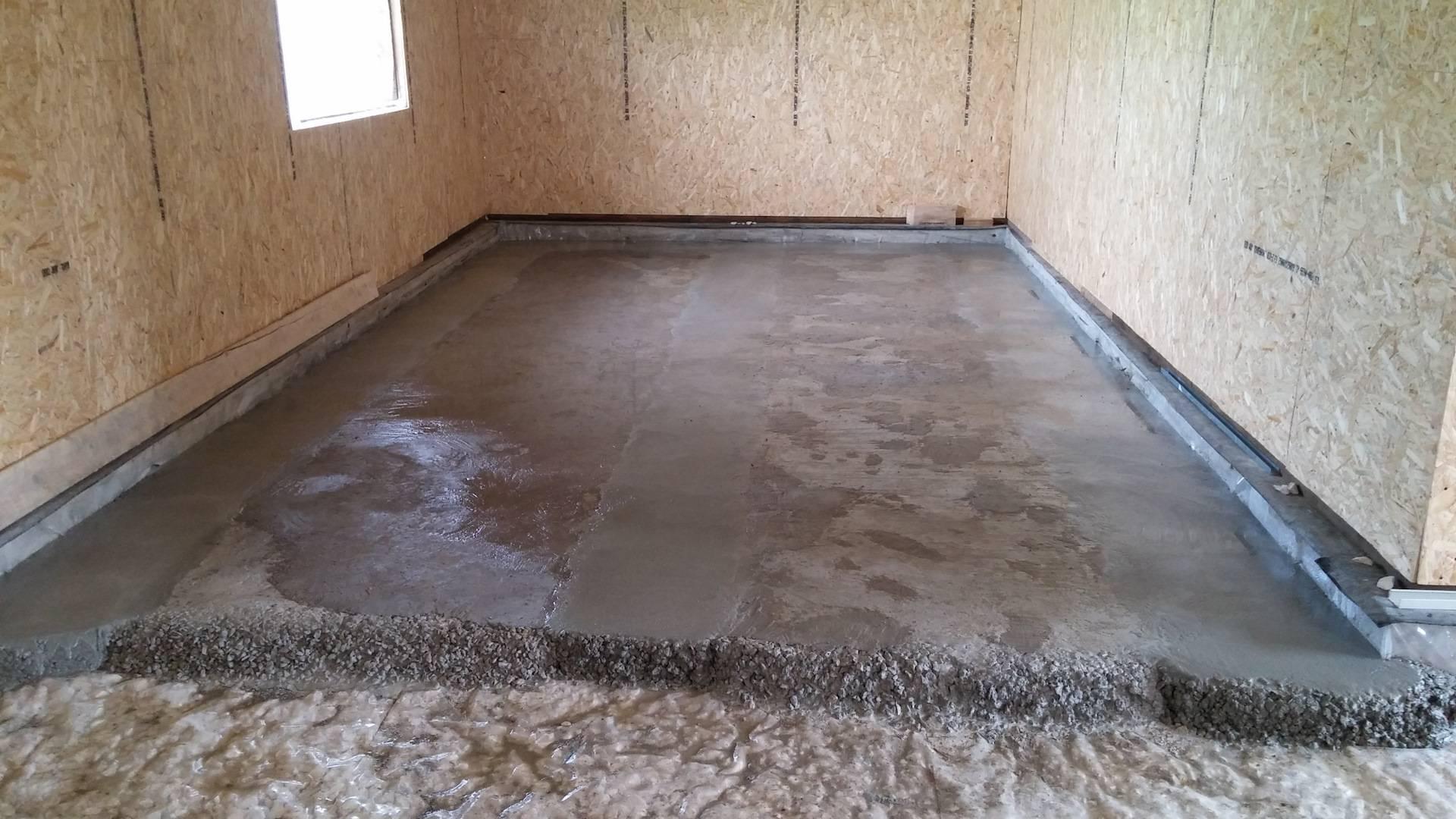 Бетонные полы по грунту: как сделать бетонный пол пошаговая инструкция
