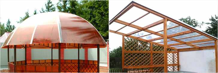 Крыша для беседки из поликарбоната своими руками: как покрыть и сделать | housedb.ru