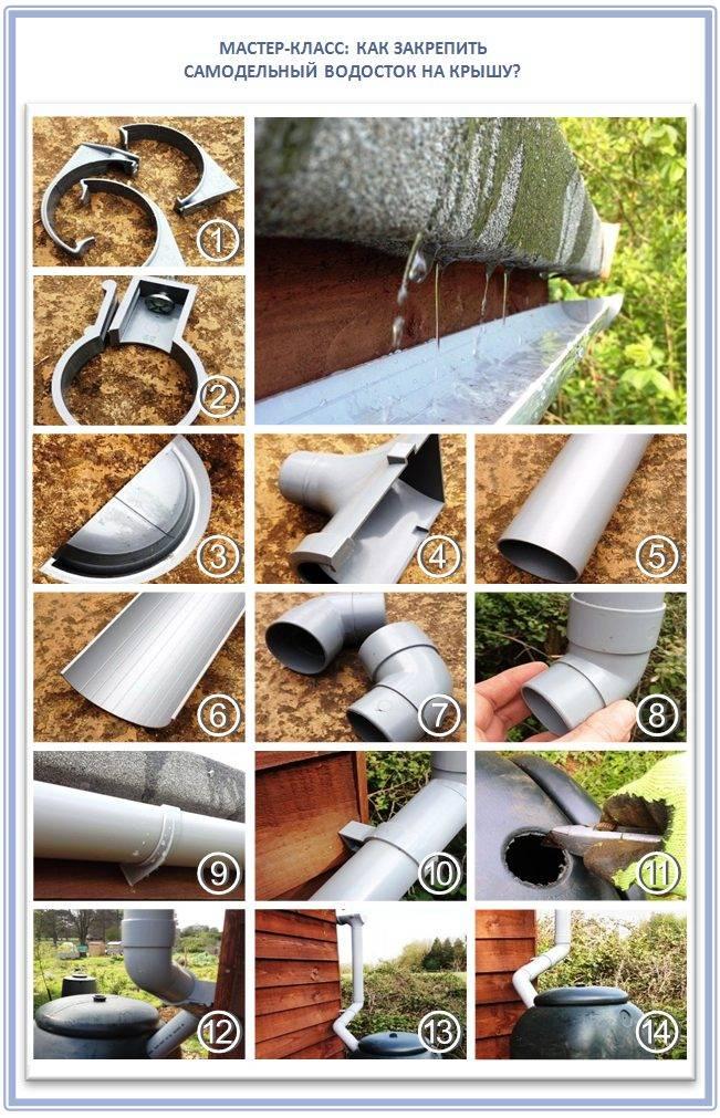 Водосток из канализационных труб своими руками + видео