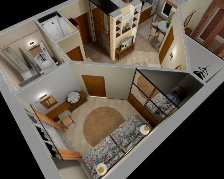 Варианты как из однокомнатной квартиры сделать двухкомнатную фото идеи