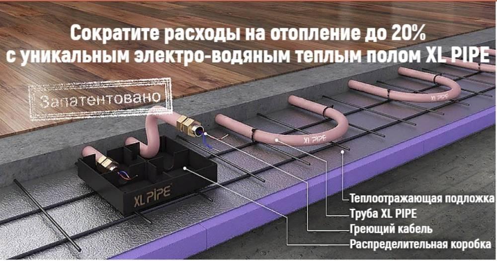 Электро водяной теплый пол: жидкостный электрический водяной пол xl pipe и unimat aqua, особенности и способы монтажа