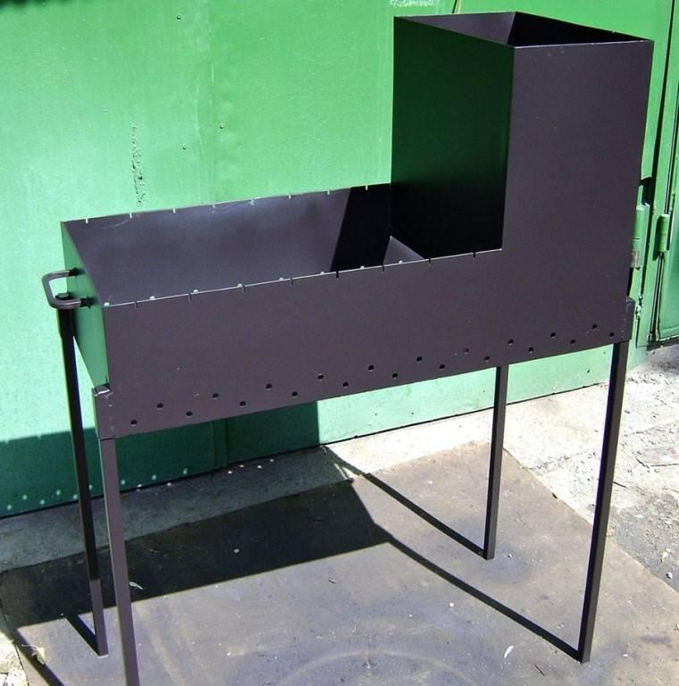 Мангал из металла своими руками - фото примеров