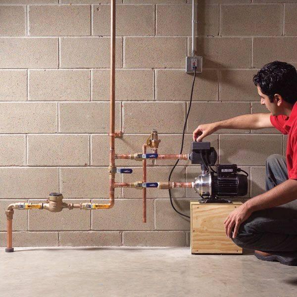 Давление воды в городском водопроводе
