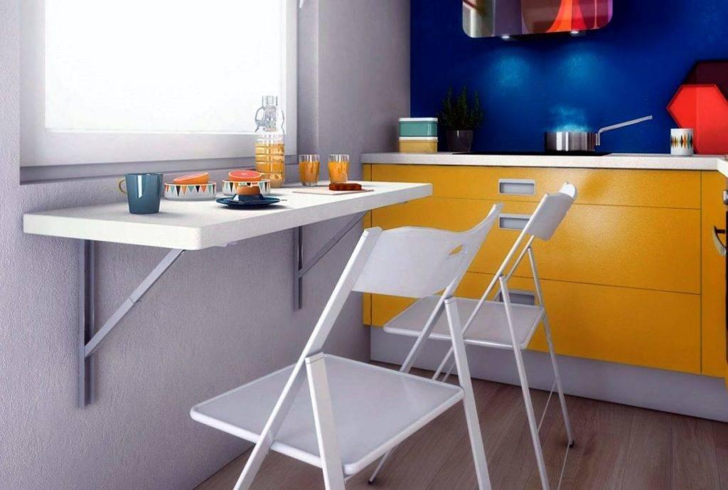 Кухонный стол для маленькой кухни (50 реальных фото): раскладные, трансформеры, оригинальные, узкие