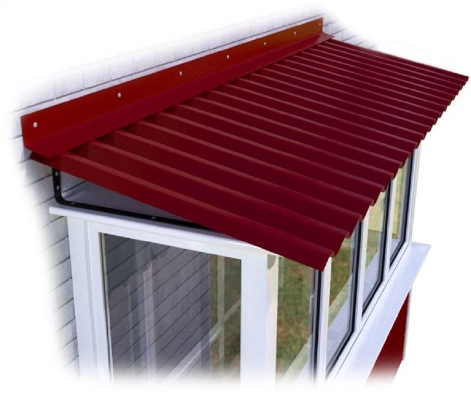 Крыша над балконом: какие материалы для нее подойдут