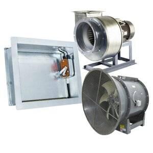 Противопожарные клапаны для вентиляции: разновидности, устройство и принцип работы